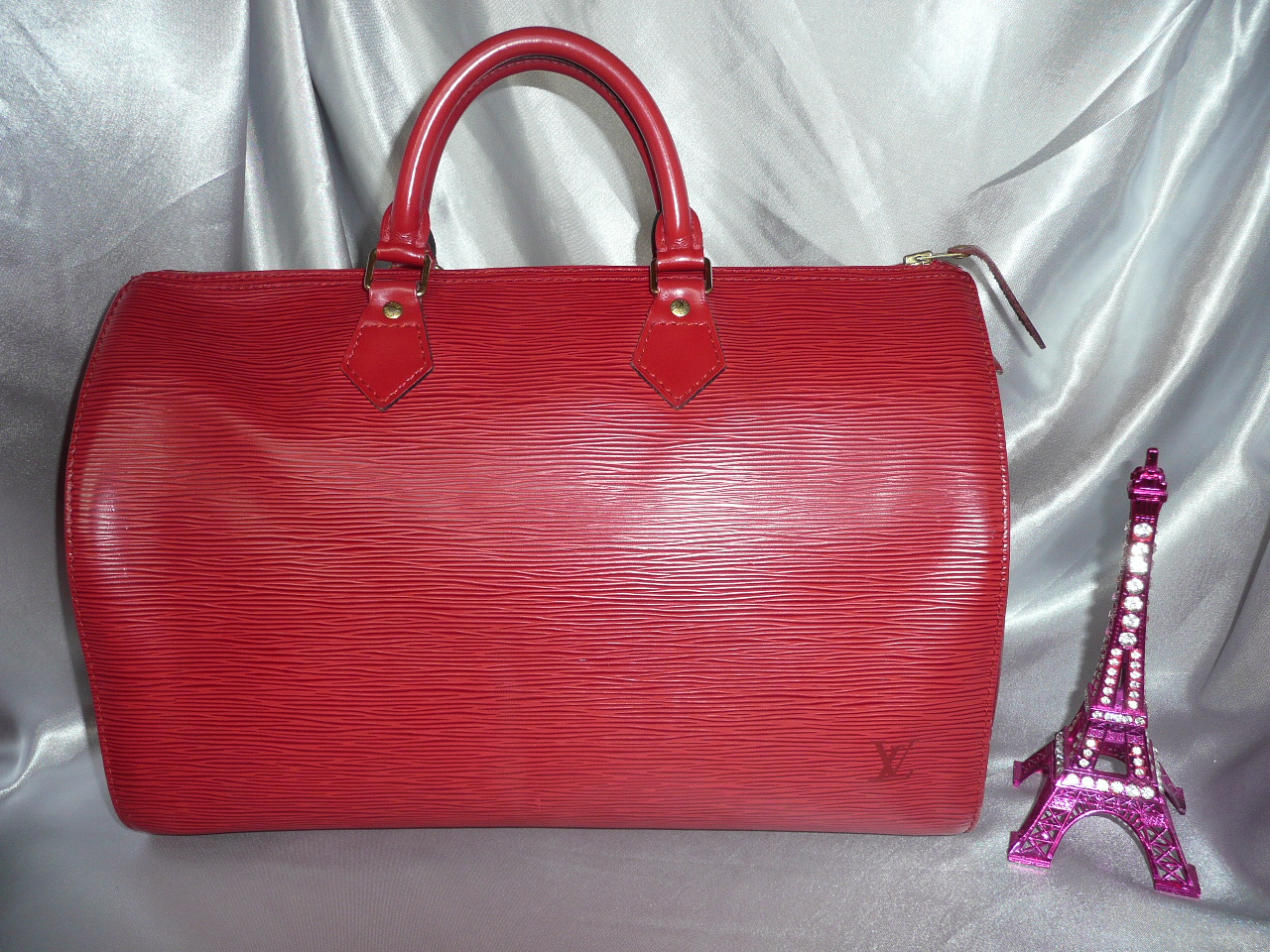 Louis Vuitton Speedy 40 cuir epi rouge