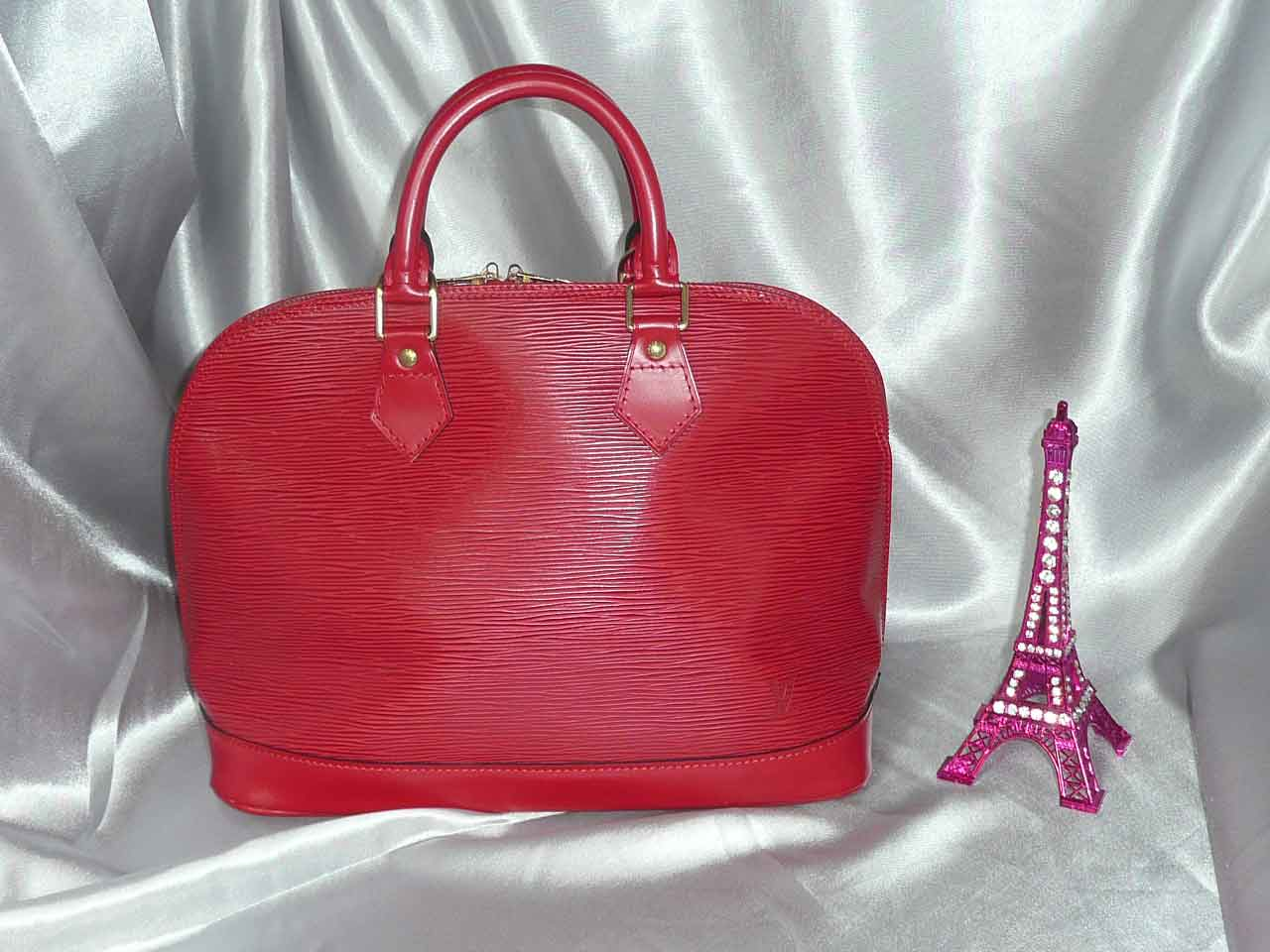Louis Vuitton Alma cuir epi rouge